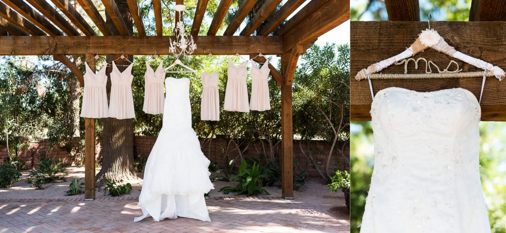 Wedding Dress, Bridesmaid Dress, Wood, Beam, Chandelier, Hanger, Mrs., Rustic