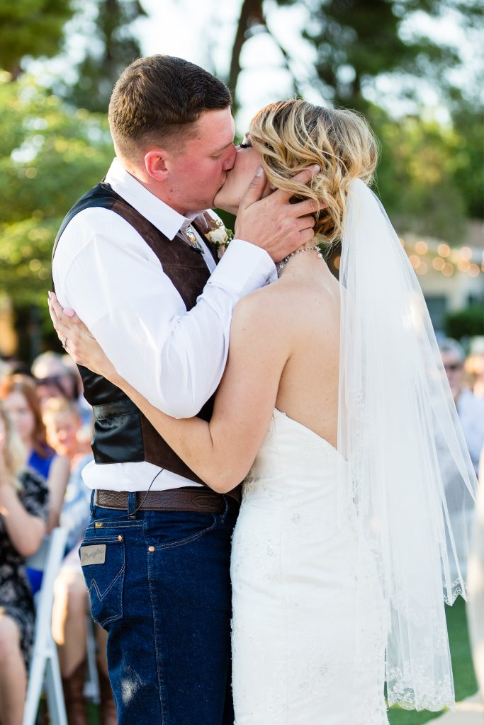kiss, wedding, ceremony