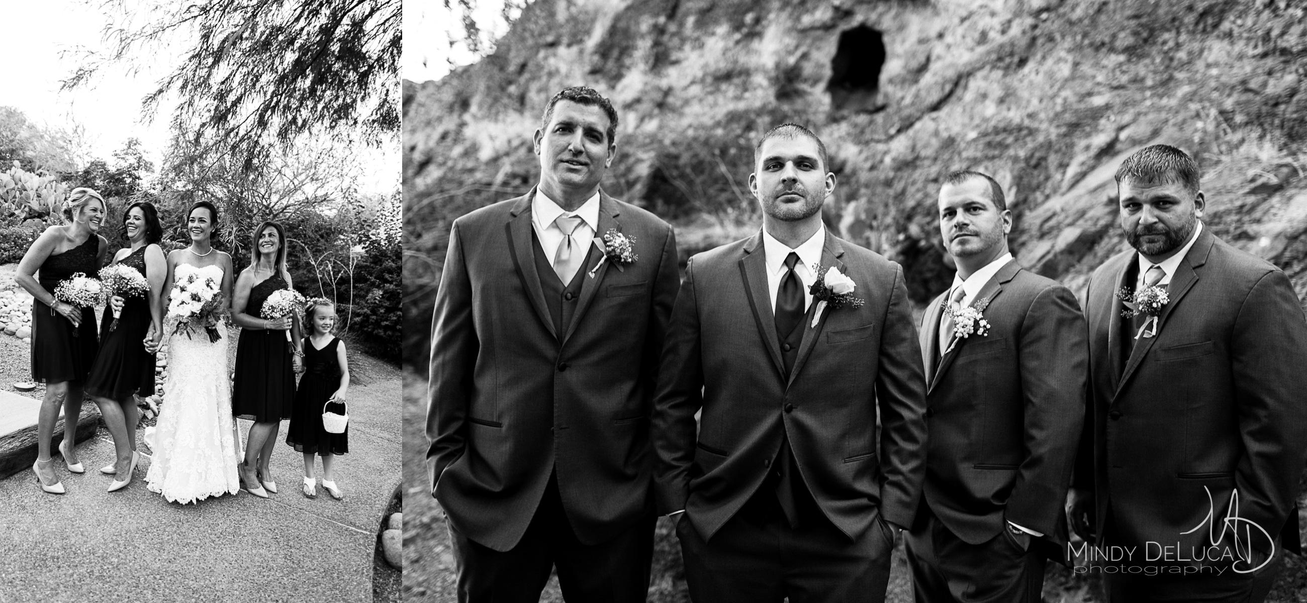 Bridal party black & white photos