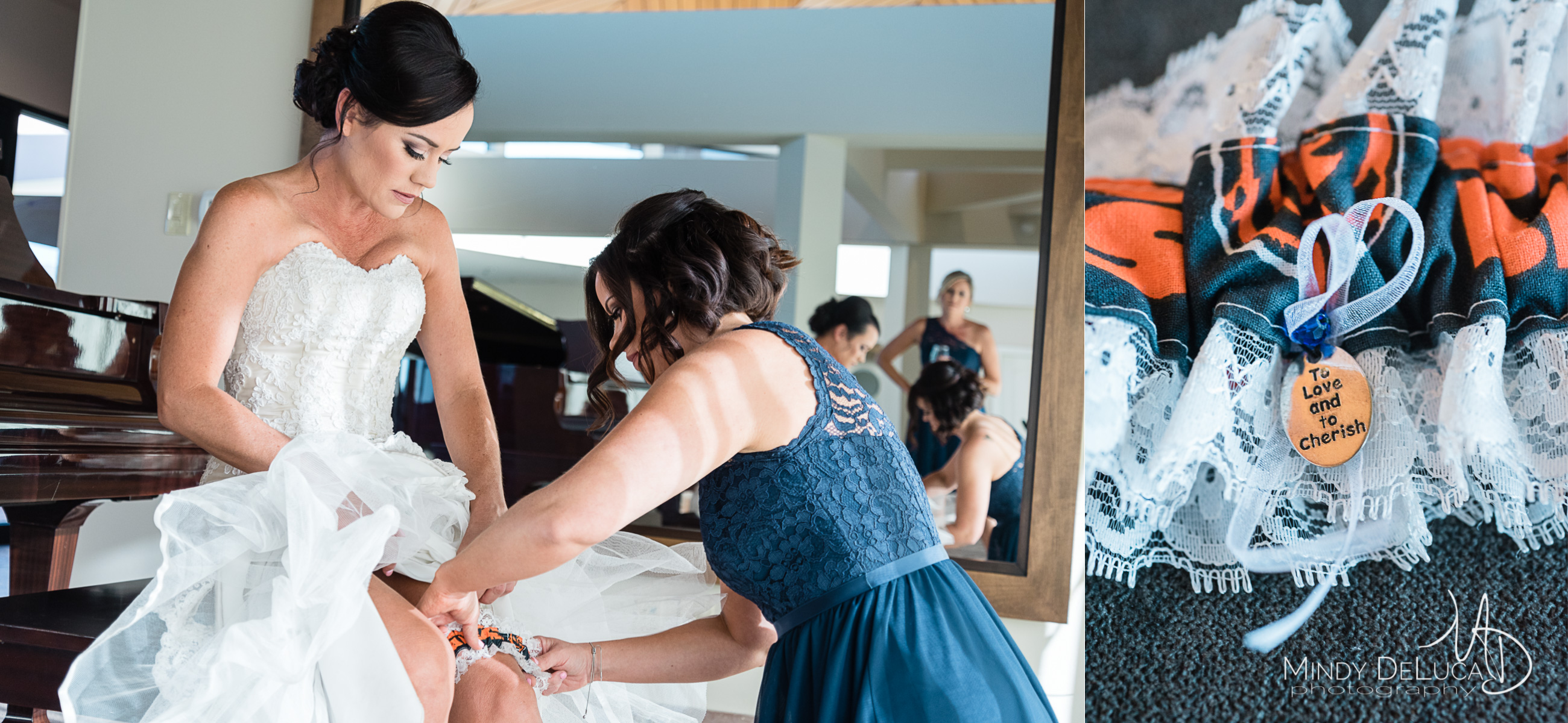 Personalized Chicago Bears wedding garter