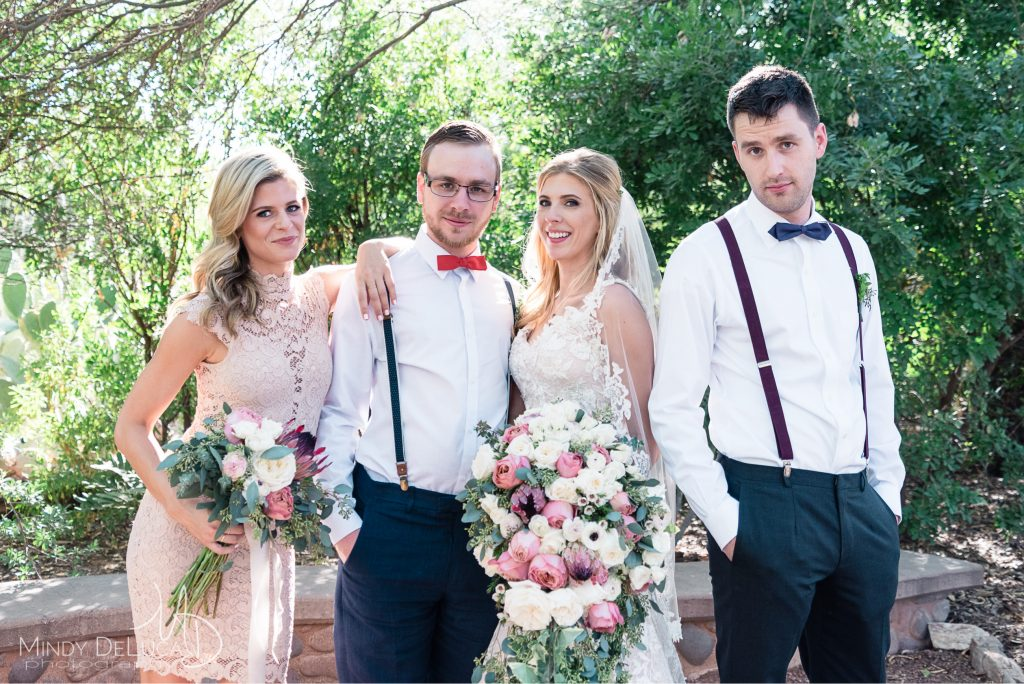 Cool bridal party photo