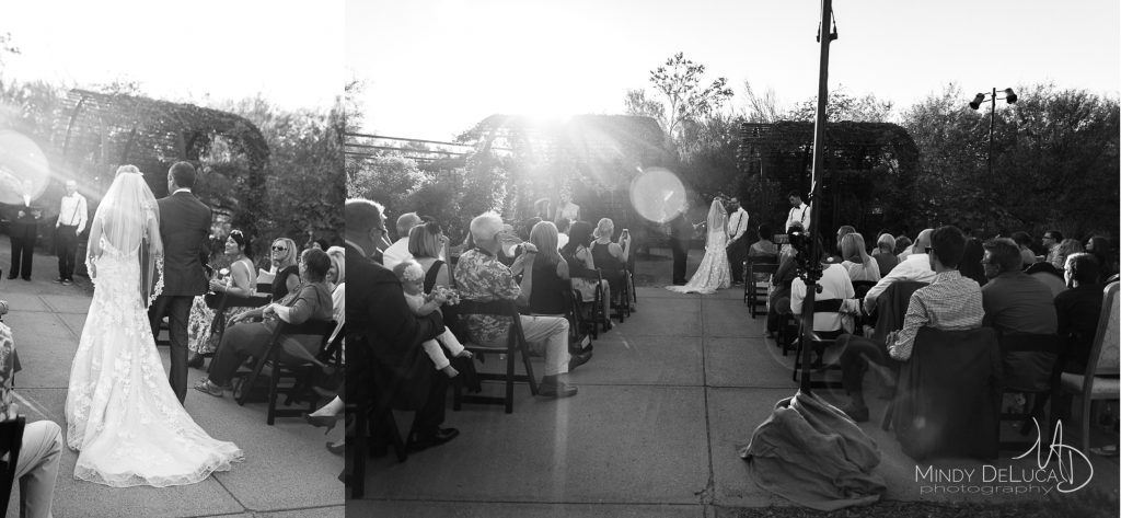 Sunlit wedding ceremony