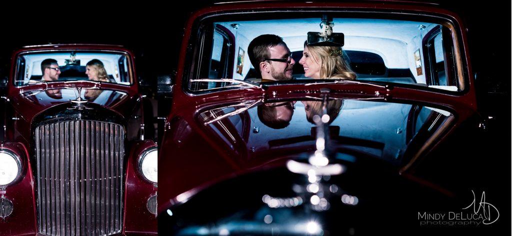 Bride and Groom in Bentley