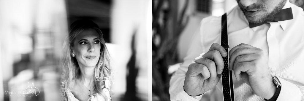 Candid black & white wedding photos