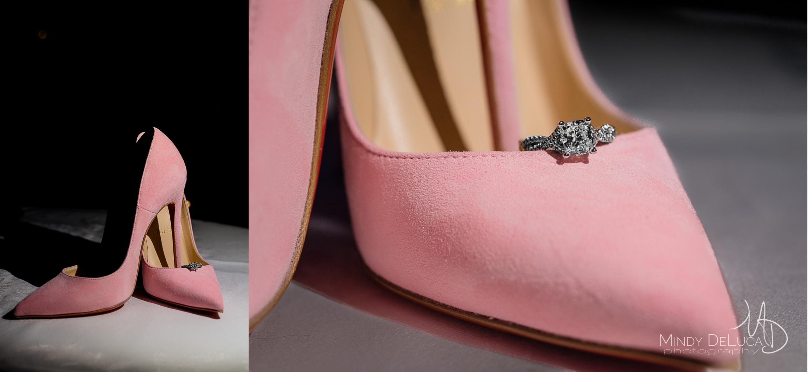 Pink Louboutin Heels Engagement Ring