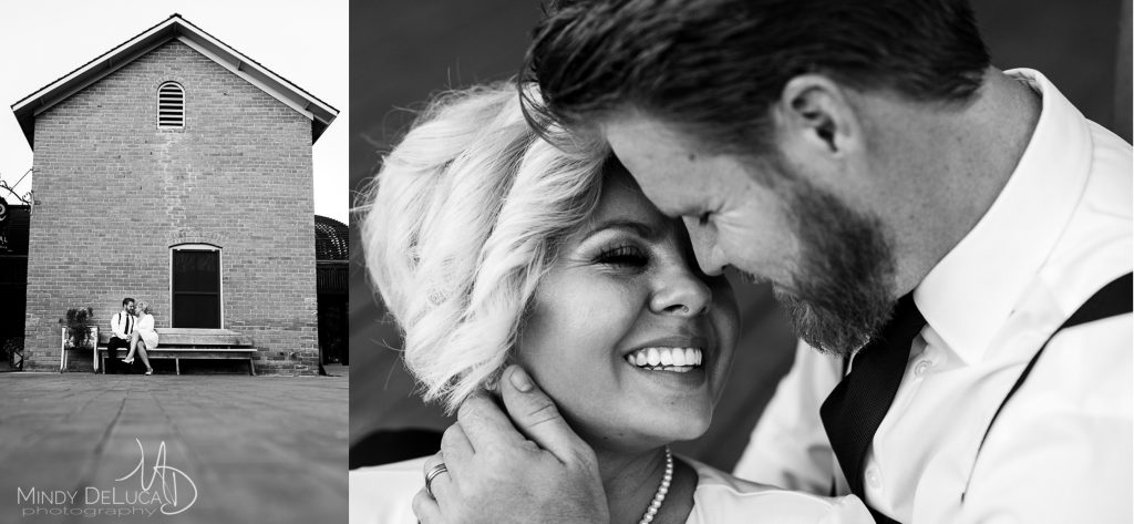 Heritage Square Black&White Engagement Photo