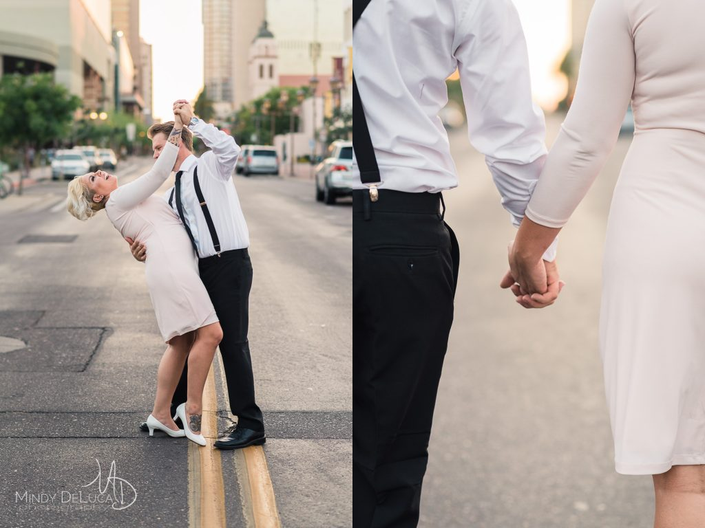 Phoenix Dancing in Street Engagement Photo