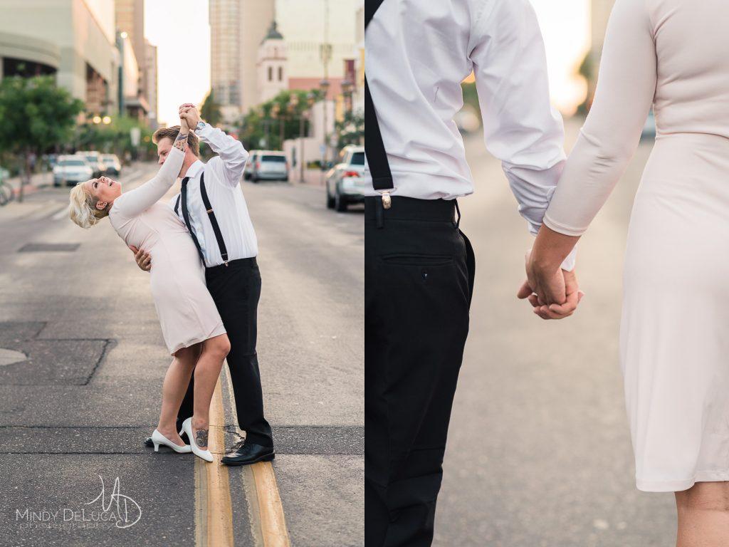 Phoenix Dancing in Street Engagement Photo