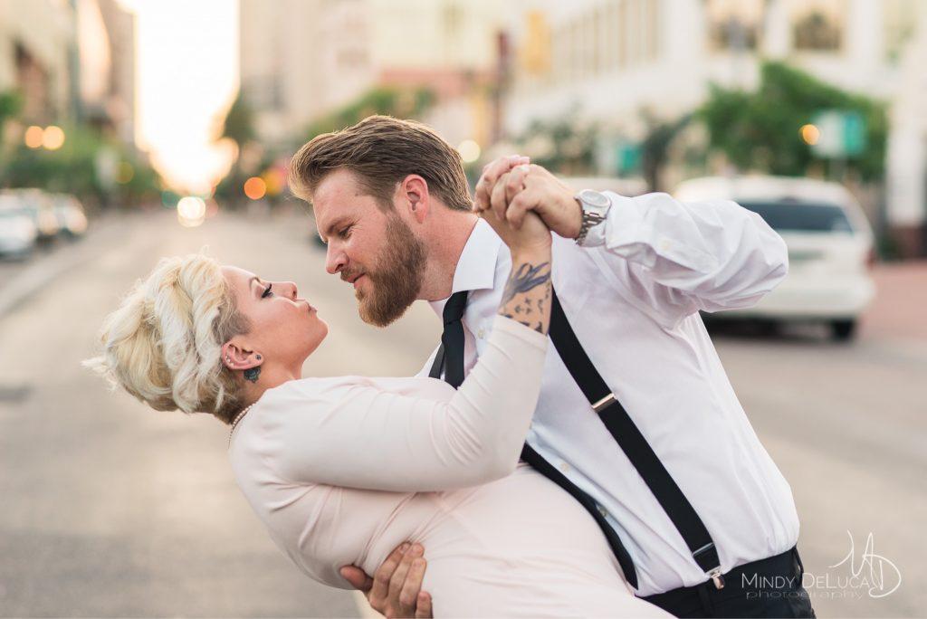 Downtown Phoenix Engagement Photo