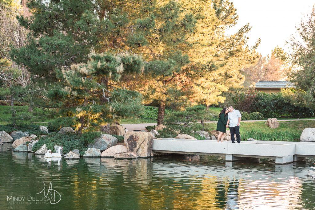 Koi Pond Bridge Engagement
